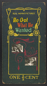 "view ""He Got What He Wanted"" mutoscope movie poster digital asset: Mutoscope Poster"