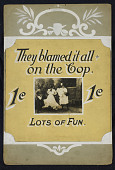 "view ""They Blamed it All on the Cop"" Mutoscope Movie Poster digital asset: Mutoscope Poster"