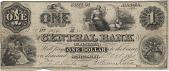 view 1 Dollar, Central Bank of Alabama Montgomery, Alabama, 1861 digital asset number 1