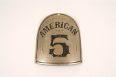 """view Fire Engine Plate, """"American 5"""" digital asset number 1"""