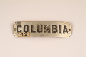 """view Fire Engine Plate, """"Columbia"""" digital asset number 1"""