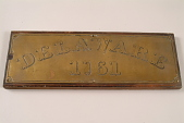 "view Fire Engine Plate, ""Delaware 1761"" digital asset number 1"