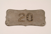 """view Fire Engine Plate, """"20"""" digital asset number 1"""