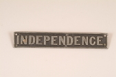 """view Fire Engine Plate, """"Independence"""" digital asset number 1"""