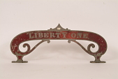 """view Fire Engine Plate, """"Liberty One"""" digital asset number 1"""