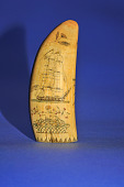 view Scrimshaw Sperm Whale's Tooth, Mid-19th Century digital asset number 1
