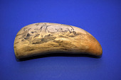view Scrimshaw Sperm Whale Tooth, mid 19th Century digital asset number 1