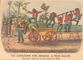 """view Lithograph, """"The Darktown Fire Brigade: The Prize Squirt"""" digital asset number 1"""