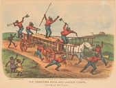 """view Lithograph, """"The Darktown Hook and Ladder Corps: Going to the Front"""" digital asset number 1"""