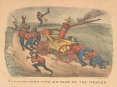 """view Lithograph, """"The Darktown Fire Brigade: To the Rescue!"""" digital asset number 1"""