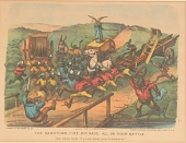 """view Lithograph, """"The Darktown Fire Brigade: All on Their Mettle"""" (2) digital asset number 1"""