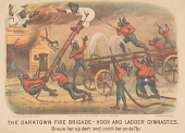 "view Lithograph, ""The Darktown Fire Brigade: Hook and Ladder Gymnastics"" digital asset number 1"