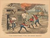 "view Lithograph, ""The Darktown Fire Brigade: Saved!"" digital asset number 1"