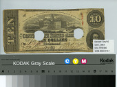 view 10 Dollars digital asset: $10 Confederate States of America paper money.