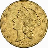 view 20 Dollars, United States, 1860 digital asset number 1