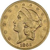 view 20 Dollars, United States, 1862 digital asset number 1