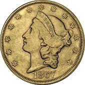 view 20 Dollars, United States, 1867 digital asset number 1