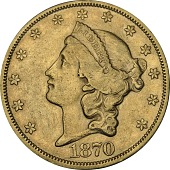 view 20 Dollars, United States, 1870 digital asset number 1