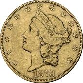 view 20 Dollars, United States, 1873 digital asset number 1