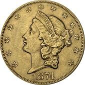 view 20 Dollars, United States, 1874 digital asset number 1