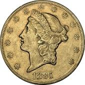 view 20 Dollars, United States, 1885 digital asset number 1