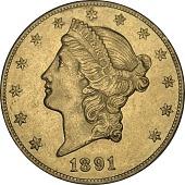 view 20 Dollars, United States, 1891 digital asset number 1