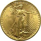 view 20 Dollars, United States, 1920 digital asset number 1