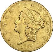 view 20 Dollars, United States,1854 digital asset number 1