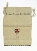 view Drawstring knitting bag with French Third Republic emblem digital asset number 1
