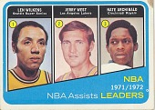 view Len Wilkens, Jerry West, and Nate Archibald NBA Assists Leaders digital asset number 1