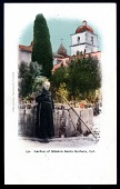 "view Picture postcard, ""Garden of Mission Santa Barbara, Cal."" digital asset number 1"