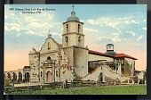 "view Picture postcard, ""Mission San Luis Rey de Francia, California - 1798"" digital asset number 1"