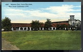 "view Picture postcard, ""Mission San Juan Bautista, San Juan, California - 1797"" digital asset number 1"