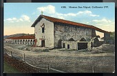 "view Picture postcard, ""Mission San Miguel, California - 1797"" digital asset number 1"
