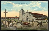 "view Picture postcard, ""Mission Santa Clara de Asis, California - 1777"" digital asset number 1"