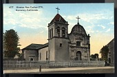 "view Picture postcard, ""Mission San Carlos - 1770, Monterey - California"" digital asset number 1"