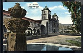 "view Picture postcard, ""Mission Santa Barbara, California - 1786"" digital asset number 1"