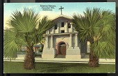 """view Picture postcard, """"Mission Dolores, Founded 1776, California"""" digital asset number 1"""