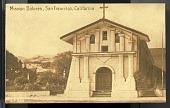 "view Picture postcard, ""Mission Dolores, San Francisco, California"" digital asset number 1"
