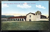 "view Picture postcard, ""Santa Ynez Mission, Founded 1804, near Santa Barbara, Calif."" digital asset number 1"