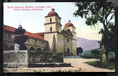 "view Postcard showing ""Santa Barbara Mission, Santa Barbara, California"" digital asset number 1"