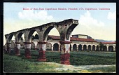 "view Picture postcard, ""Ruins of San Juan Capistrano Mission, Founded 1776, Capistrano, California"" digital asset number 1"