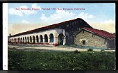 "view Picture postcard, ""San Fernando Mission, Founded 1797, San Fernando, California"" digital asset number 1"