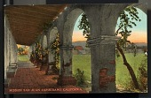 "view Picture postcard, ""Mission San Juan Capistrano, California"" digital asset number 1"