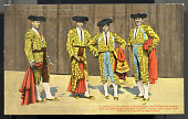 view In addition to the interest of the Bullfight, the fullfighters resplendent in their bright costumes literally covered with heavy gold braid is an impressive sight indeed. digital asset number 1