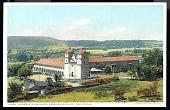 "view Picture postcard, ""General View of Santa Barbara Mission, California"" digital asset number 1"