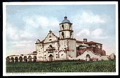 """view Picture postcard, """"Mission San Luis Rey, California. Founded 1798"""" digital asset number 1"""