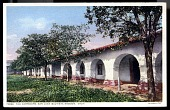 """view Picture postcard """"The Corridors, San Juan Bautista Mission, Calif. Founded 1797"""" digital asset number 1"""