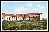 """view Picture postcard, """"Mission San Miguel, California"""" digital asset number 1"""