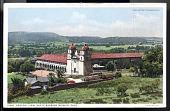 "view Postcard showing ""General View, Santa Barbara Mission, California"" digital asset number 1"